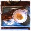 由布御所 - 料理写真:山女魚の甘露煮とたまご。 たまご、プッチプチ!