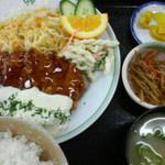 地下食堂 天輪 - チキン南蛮定食 600円 2013/04