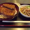 つる庵 - 料理写真:「ソースかつ丼セット」1,070円