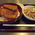 つる庵 - 「ソースかつ丼セット」1,070円
