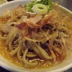 つる庵 - 「ソースかつ丼セット」の小おろし蕎麦アップ