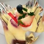 18334822 - ブルーベリーのレアチーズケーキ