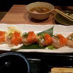 18334848 - サーモン手毬寿司