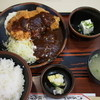 ぼうげつ - 料理写真:とんかつ、ハンバーグ(ミックス)定食
