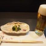 萌えぎ - 料理写真:先付け(ヌタ和え) 2013年4月