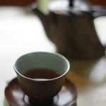 三芳家 - 食後のほうじ茶