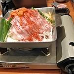 和食さと - 鉄板豚キムチ鍋