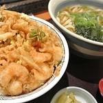 和食さと - 海老と小柱のかき揚げ天丼セット
