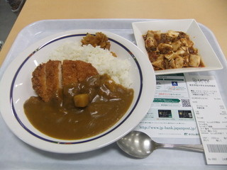 東京学芸大学生協 第一食堂(大生) - カツカレーM+麻婆豆腐