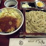 心洗庵 - メンチカツ丼と蕎麦のセット