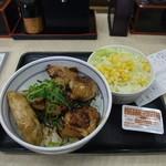 吉野家 - 焼鳥つくね丼(並盛)+生野菜サラダ