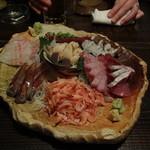 魚魚権 - 刺身盛り