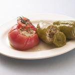 スパルタ - イョミスタ トマト・ビーマンの肉ご飯詰め蒸しオーブン焼き