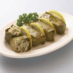 スパルタ - ドルマダキア 葡萄の葉にご飯松の実など他を包んだ、ギリシャ料理の1品