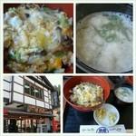 18348435 - 室生寺の下の食堂でしめじ丼。自然薯のお吸物も美味しかった。