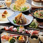 うめ家 - 料理写真:旬の食材を取り入れた、うめ家のコース料理。2500円・3000円・4000円~ございます。