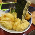 スタンドふじ 本店 - 天ぷら盛り