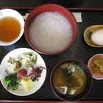 花むらさき - 朝膳500円 お粥タイプ+煮抜き