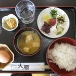 花むらさき - 朝膳 ご飯タイプ+生卵