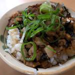 福芳亭 - 「ミニチャーシュー丼」。結構贅沢なミニ丼でしたよ。美味しかった!