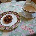 紅茶の店 青い空 - スィートトゥエンティとナッツキャラメルタルト