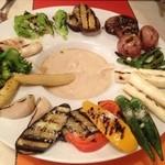 カンパネ食堂 - グリル野菜のバーニャカウダソース