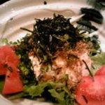 酒楽遊膳えびす - 「荒木豆腐とジャコのシャキシャキサラダ」練り胡麻とジャコに豆腐の相性抜群!