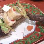 18370419 - 真子鰈東寺揚げ たらの芽白魚 美味出汁