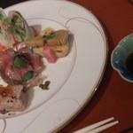 18370428 - 鰆柚庵焼き・黒毛和牛サーロインステーキ