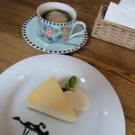 ラジオ プラント - チーズケーキセット(800円)