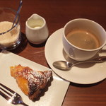 ラトリエ ド ルキャン - デコポンのタルトとホットコーヒー