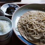 四季の里 蕎麦 季里 - ざるそば1000円。