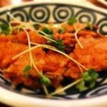 神戸百番 - 茄子の鶏ミンチはさみ揚げだよ~