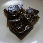 蕎麦菜 - 昆布の佃煮。
