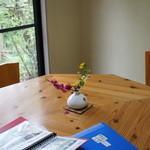 蕎麦菜 - 小さな個室っぽい席がいくつか。