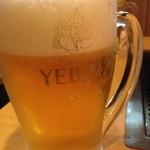 お好み焼ポン吉 - 生ビール