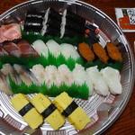 雷門鮨 - 並3人前・3465円+容器代210円