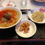 王福 - 担々麺+半チャーハン+小唐揚げ