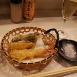 18385236 - 海老、筍、アスパラ天ぷら