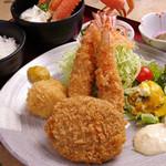 みそ家米ぞう - 料理写真:定番!ミックスフライ定食。開店当時より人気のメニュー~ボリューム満点~