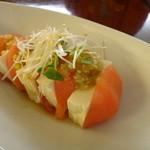 18390757 - トマトと豆腐のカプレーゼ