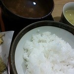 18391478 - ランチ「天ぷら定食」ご飯・味噌汁¥1050
