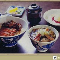 うなぎの村こし - 浜名湖丼はうな肝丼とお茶漬けの欲ばりな丼ぶりセット。満足度◎。