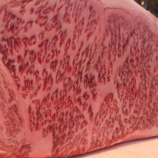 厳選された黒毛和牛・魚介を使用した鉄板料理!