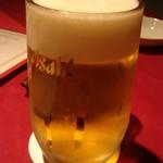 ヌーベルシノワ一品香 - まずはビールでしょう