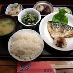 本田亭 - 料理写真:さば塩焼き定食