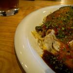広島焼き みやこ亭 - 皿、これはへらが使いにくいです。