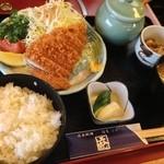 おいしいお魚料理のお店 呑 - 日替りランチのトンカツ