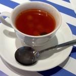 cafe & restaurant ウエストリバー - カジュアルランチのスープ 見た目以上に具が多いです。