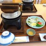 錦パレスホテル - 釜飯セット、これに天ぷらがつきます